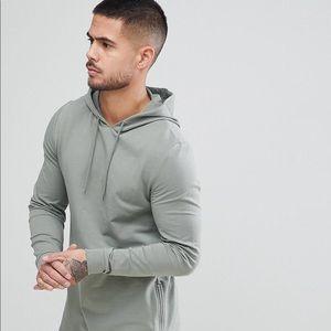 Men's Side-zip longline Hoodie